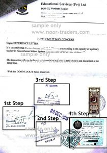 How to attest experience letter from UAE Embassy Islamabad