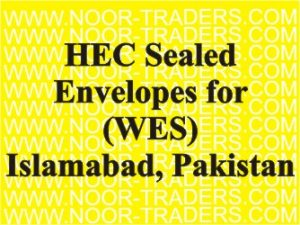 HEC Sealed Envelopes for World Education Services (WES)
