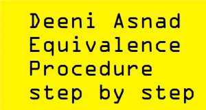 Deeni Asnad Equivalence Procedure step by step